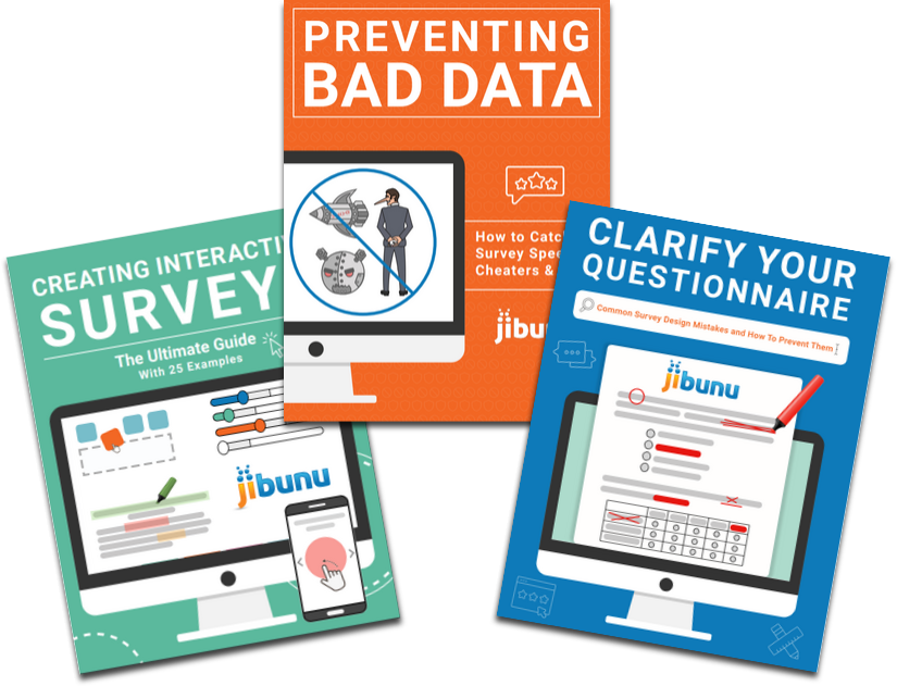 Creating interactive surveys, preventing bad data, and clarify you questionnaire eBook images
